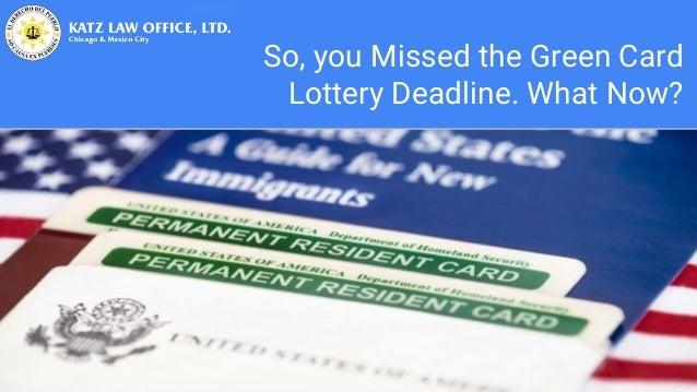 green card lottery application deadline
