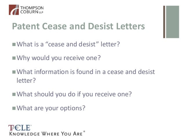 Patent Cease And Desist Letter Template Infoletter Co