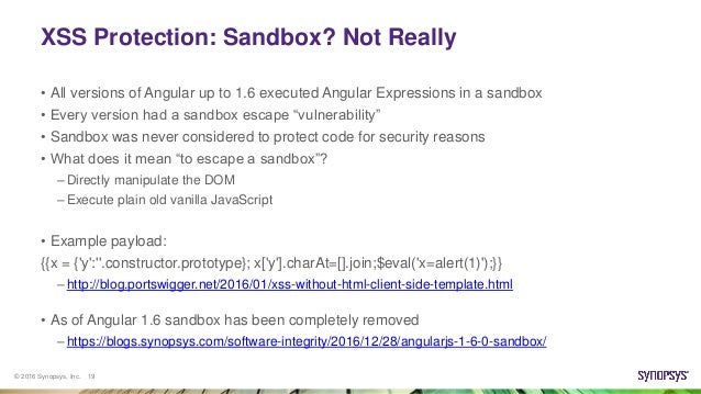 So you thought you were safe using AngularJS   Think again!