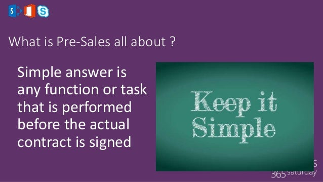 how to become a pre sales consultant