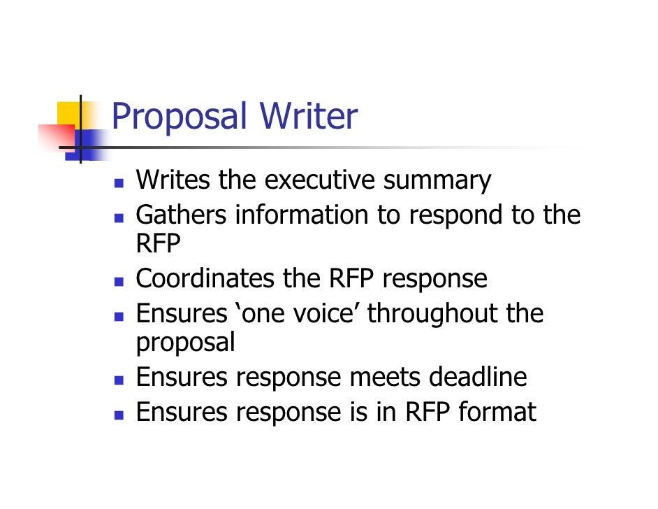 rfp writers
