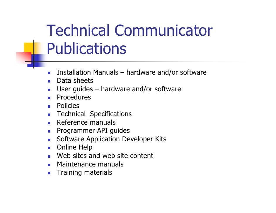 What does a Technical Writer do?