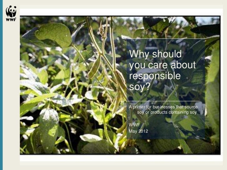 Why shouldyou care aboutresponsiblesoy?A primer for businesses that source     soy or products containing soyWWFMay 2012