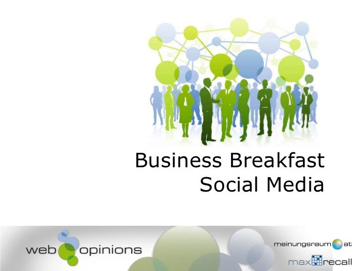 Business BreakfastSocial Media<br />