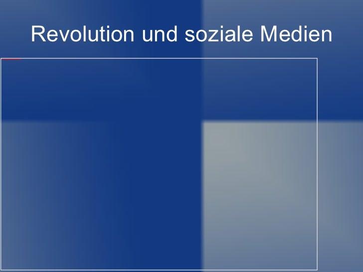 Revolution und soziale Medien