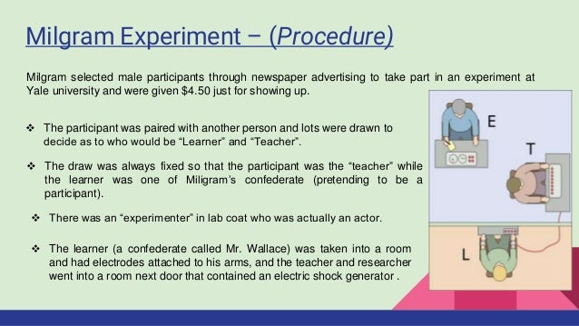 Milgram Experiment - Obedience to Authority
