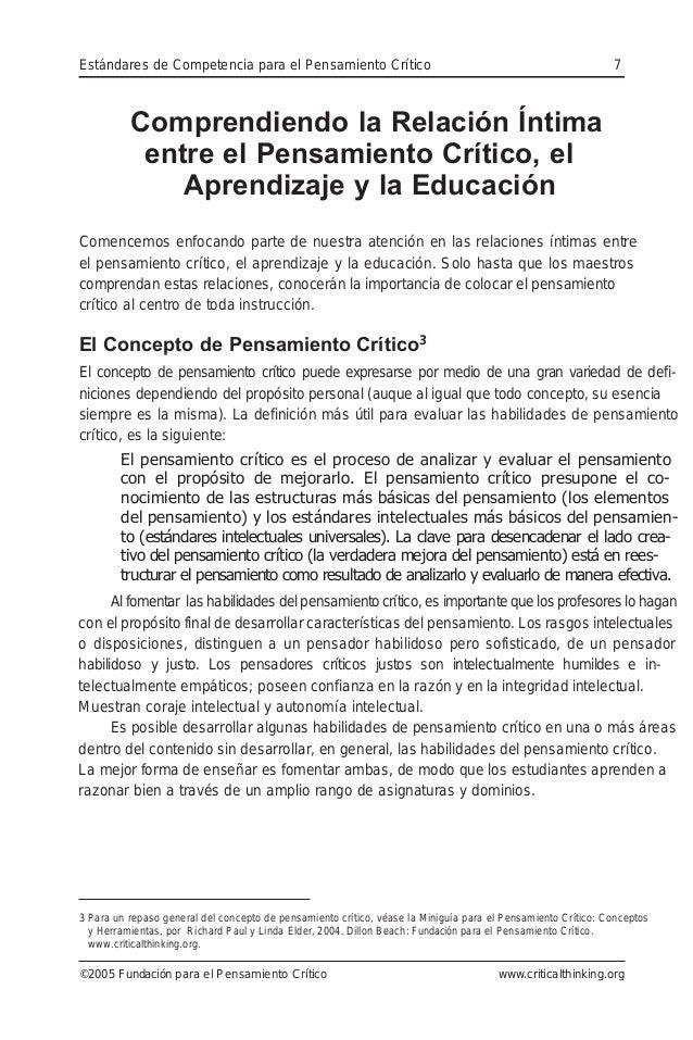 Comprendiendo la Relación Íntima entre el Pensamiento Crítico, el Aprendizaje y la Educación Comencemos enfocando parte de...