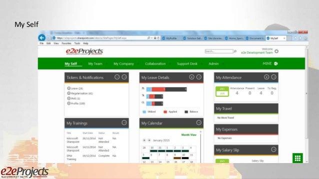 SharePoint based ESS (Employee Self Service) Portal presentation