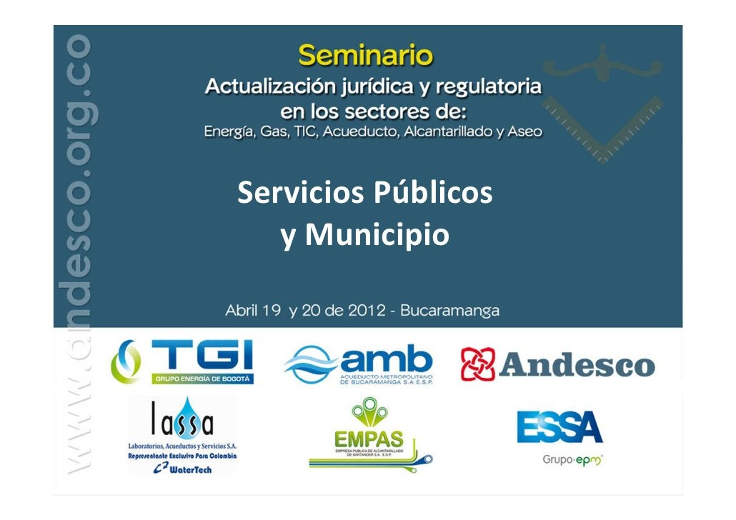 Servicios Públicos   y Municipio