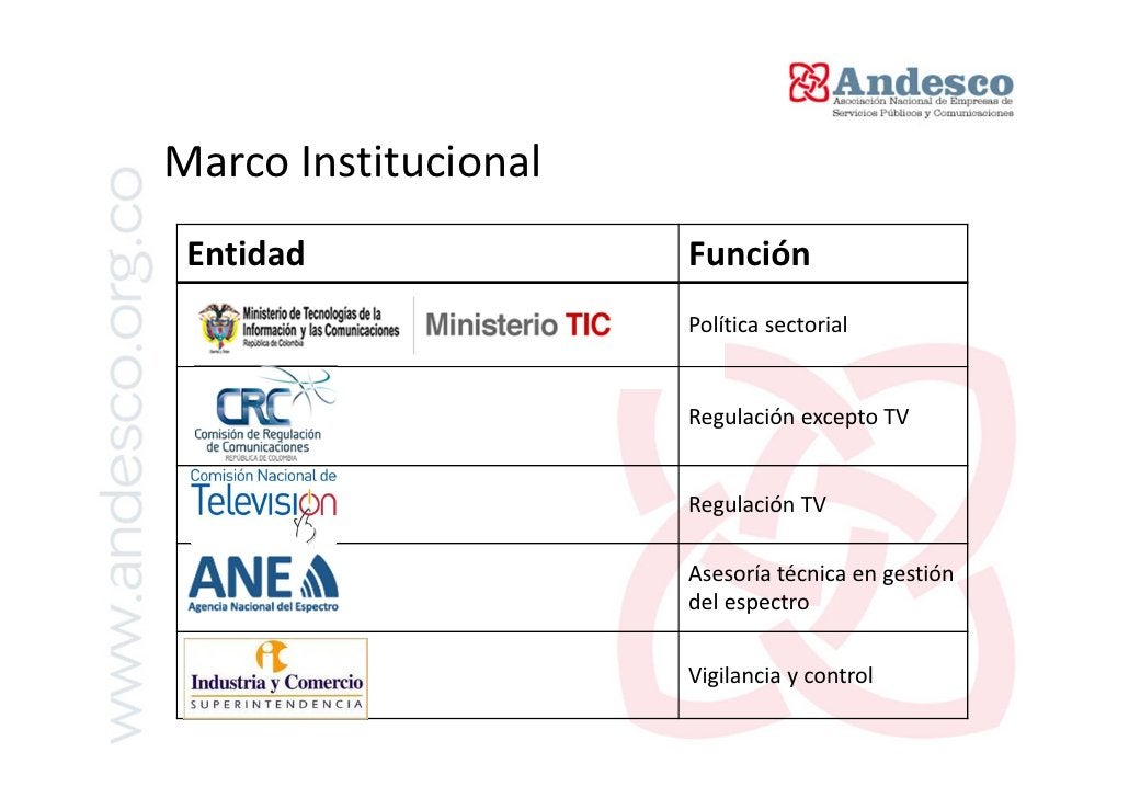 Marco NormativoNorma                    Objeto                         • Marco Convergente de TelecomunicacionesLey 1341 d...