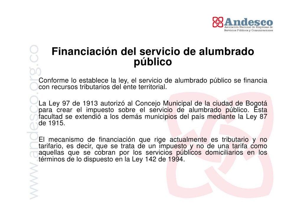 El rol de los Concejos Municipales frente     al servicio de alumbrado públicoDado que la ley no define los elementos del ...