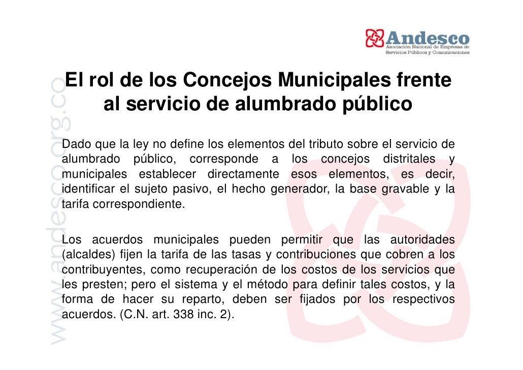 Servicios Públicos y municipio Andesco