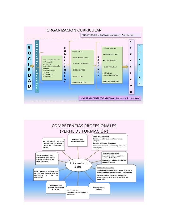 ORGANIZACIÓN CURRICULAR                                                               PRÁCTICA EDUCATIVA: Lugares y Proyec...