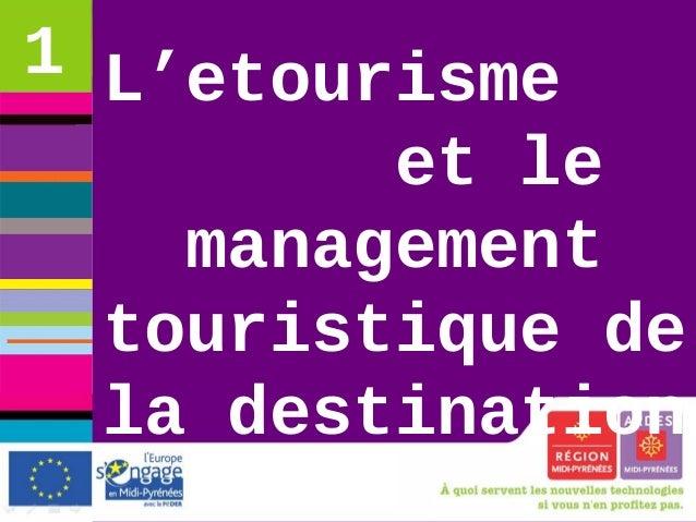 etourisme et management touristique de la destination lundi 17 novembre 2008 CRT Midi-Pyrénées L'etourisme et le managemen...