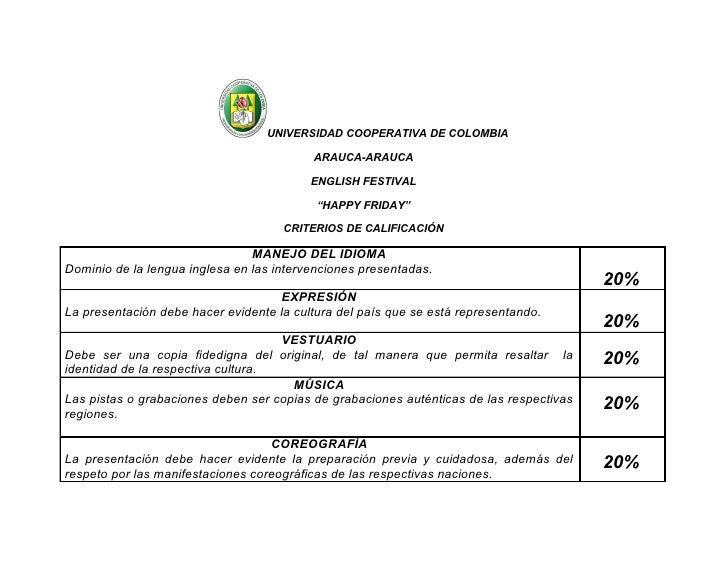 UNIVERSIDAD COOPERATIVA DE COLOMBIA                                            ARAUCA-ARAUCA                              ...