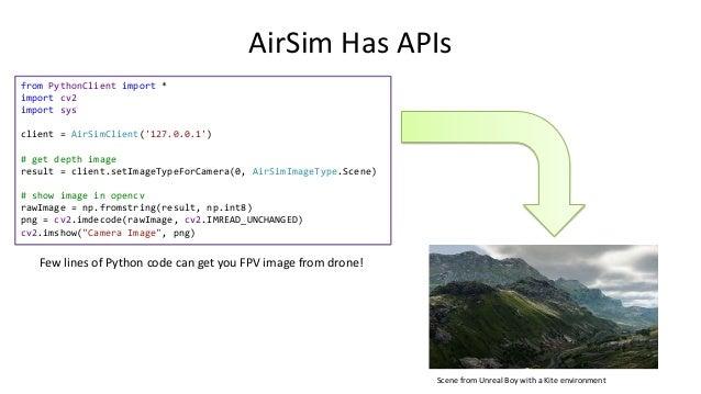 Make Drone Move in AirSim Using APIs