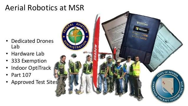 Aerial Robotics at MSR