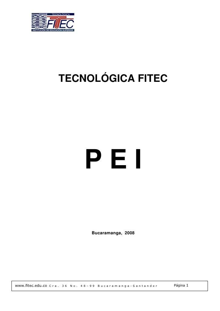 TECNOLÓGICA FITEC                                              PEI                                                Bucarama...