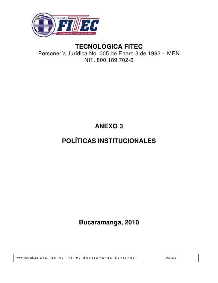 Sp023 politicas