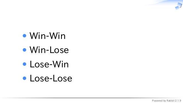 Powered by Rabbit 2.1.9   Win-Win Win-Lose Lose-Win Lose-Lose