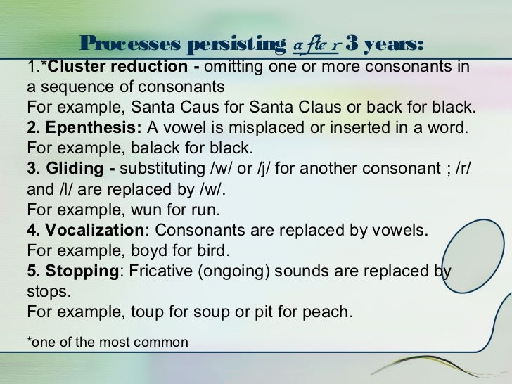 vowel epenthesis in Uses epenthesis arises for a variety of reasons the phonotactics of a given language may discourage vowels in hiatus or consonant clusters, and a consonant or vowel may be added to make pronunciation easier separating vowels a consonant may be added to separate vowels in hiatus this is the case with linking and intrusive r drawing → drawring bridging consonant clusters.
