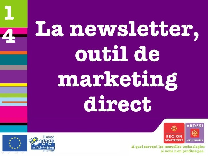 La newsletter, outil de marketing direct 14