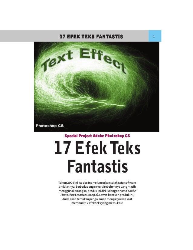 FANT              ANTASTIS17 EFEK TEKS FANTASTIS                                      1    Special Project Adobe Photoshop...