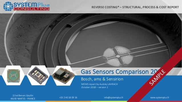 Gas Sensor Comparison 2018 System Plus Consulting