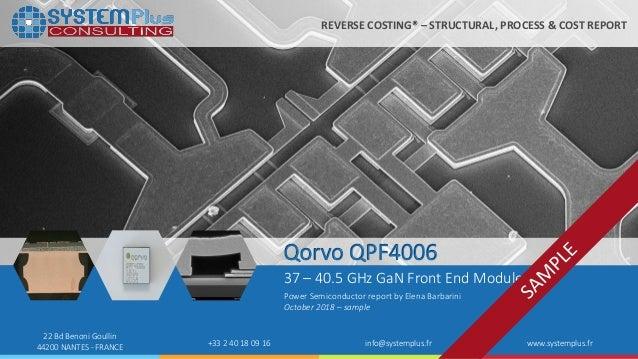 Qorvo QPF4006 39GHz GaN MMIC Front End Module