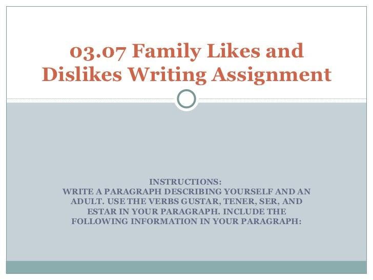 how to start a paragraph describing yourself