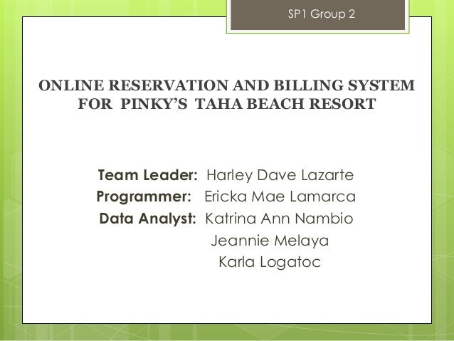 online billing and reservation system for Hotel room reservation and billing system the main purpose of this study was to create a program that will automate the current system used by the said hotel.