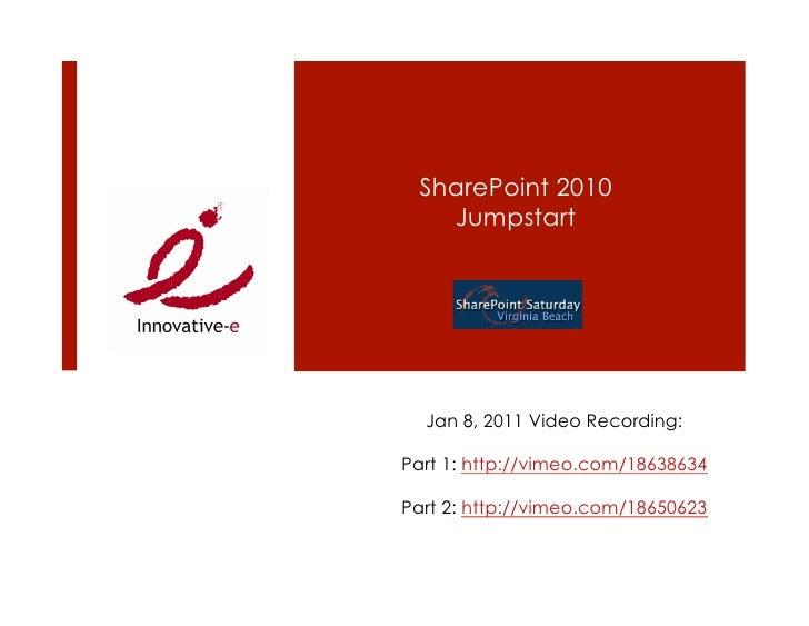 SharePoint 2010 101 @ SPSVB