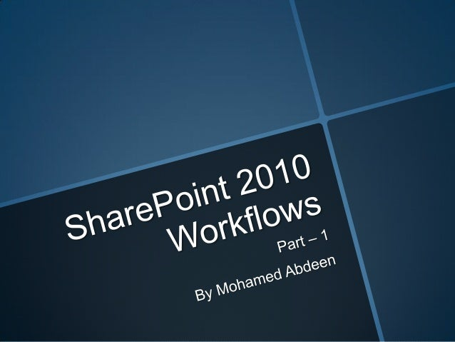 SharePoint 2010 Workflow Introduction