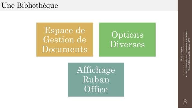 Utilisation de Sharepoint - Gestion de Documents Slide 3