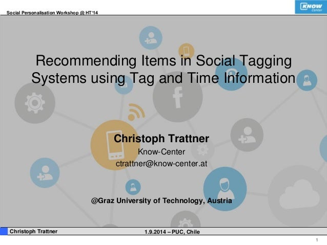 Social Personalisation Workshop @ HT'14  1  Recommending Items in Social Tagging  Systems using Tag and Time Information  ...