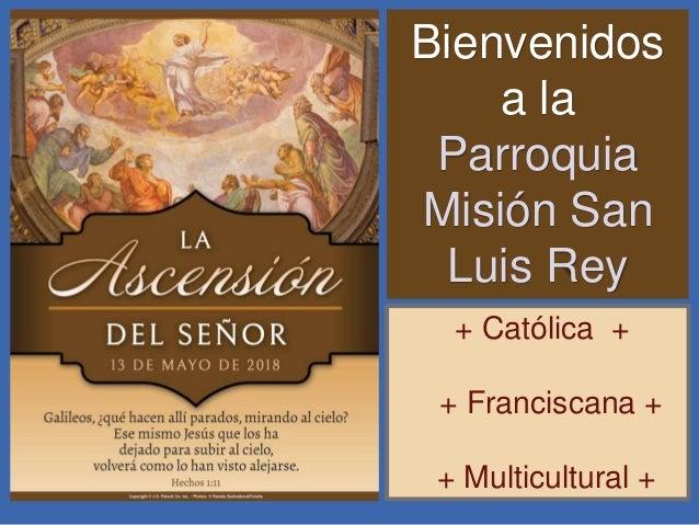 Bienvenidos a la Parroquia Misión San Luis Rey + Católica + + Franciscana + + Multicultural +