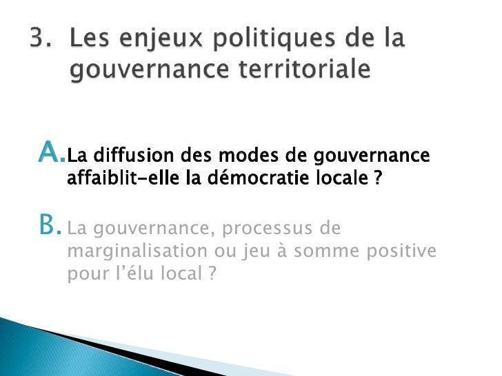 Sp 5 la gouvernance territoriale - Chambre des metiers de la somme ...