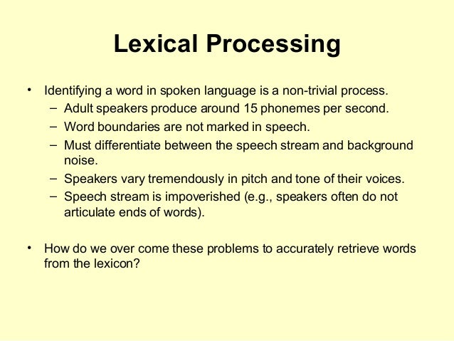 lexical categories of speech Decomposing lexical categories in sakha 83 21  undergone 3  participle: a part of speech sharing the features of the verb and the noun.