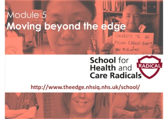School for Health and Care Radicals - Module 5 slides 2016