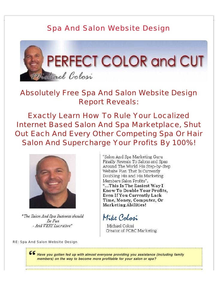 Spa And Salon Website Design        Absolutely Free Spa And Salon Website Design                   Report Reveals:     Exa...