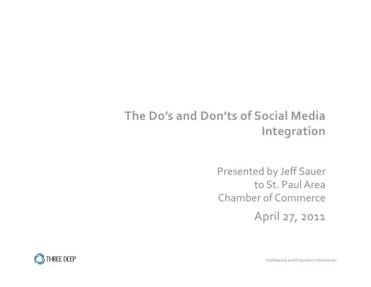 The Do's and Don'ts of Social Media                                        Integration                    ...