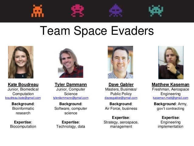 Space Evaders Lessons Learned H4Dip Stanford 2016 Slide 2