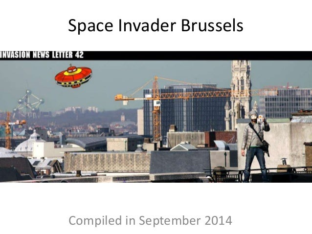 Space Invader Brussels Compiled in September 2014