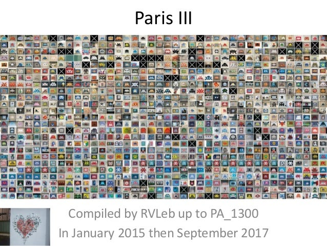 Paris III Compiled by Hervé In January 2015
