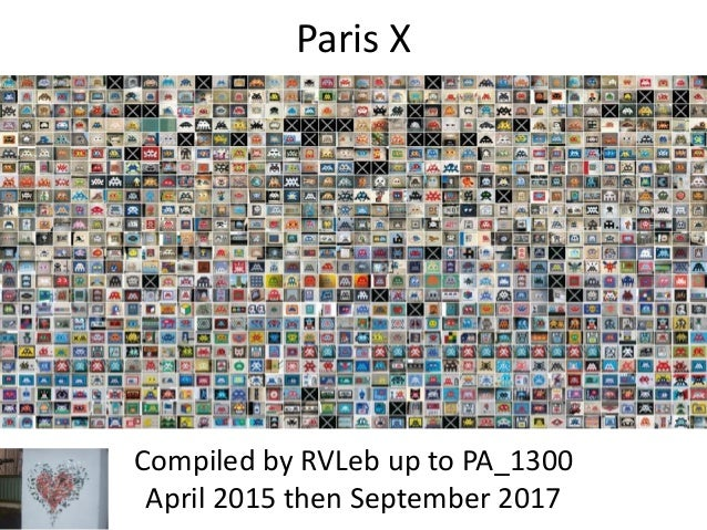 Paris X Compiled by RVLeb up to PA_1300 April 2015 then September 2017