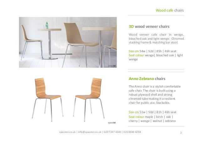 ... WOOD CAFE CHAIRS | CATALOGUE 2014; 2.