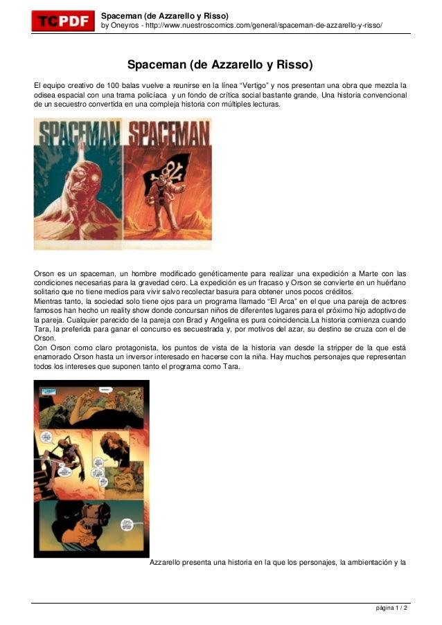 Spaceman (de Azzarello y Risso)                    by Oneyros - http://www.nuestroscomics.com/general/spaceman-de-azzarell...