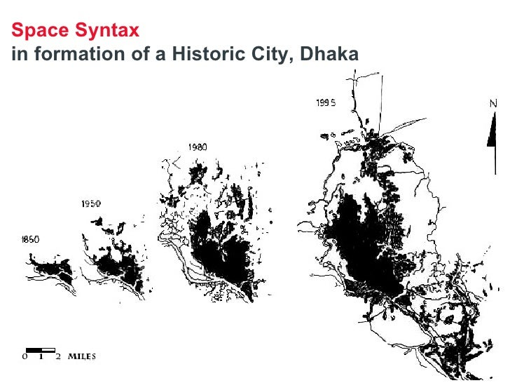 Space Syntax   in formation of a Historic City, Dhaka