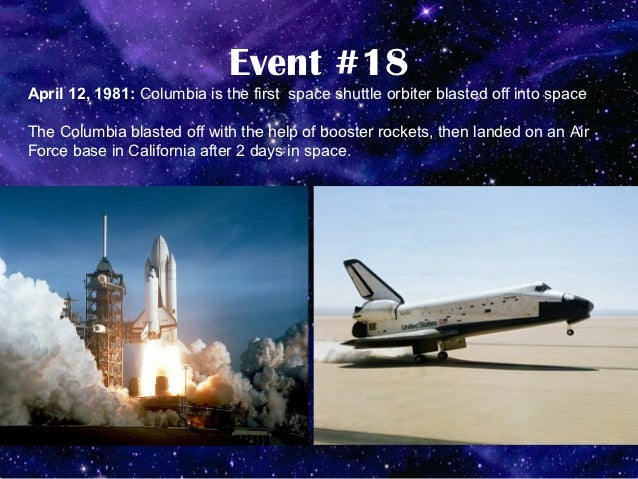 space shuttle columbia timeline - photo #18