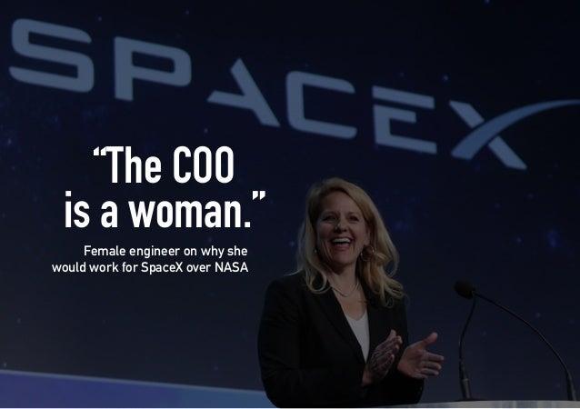"Main Reasons Why NASA has a broader focus than SpaceX. NASA has more history and a better reputation SpaceX has ""terrible ..."